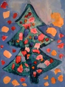 Weihnachtsbaum wie meine Enkelin ihn sieht